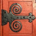 Black hinge on red doorRalph Thayer