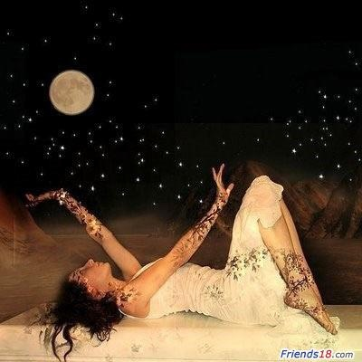 The feminine realm. Bathed in moonlight