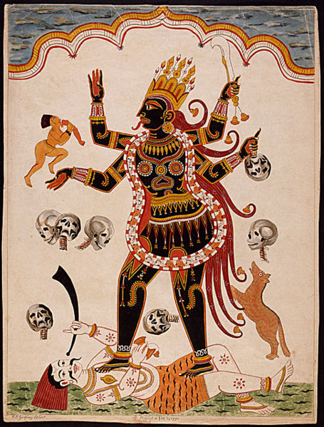 Goddess Kali. Fierce Feminine archetype