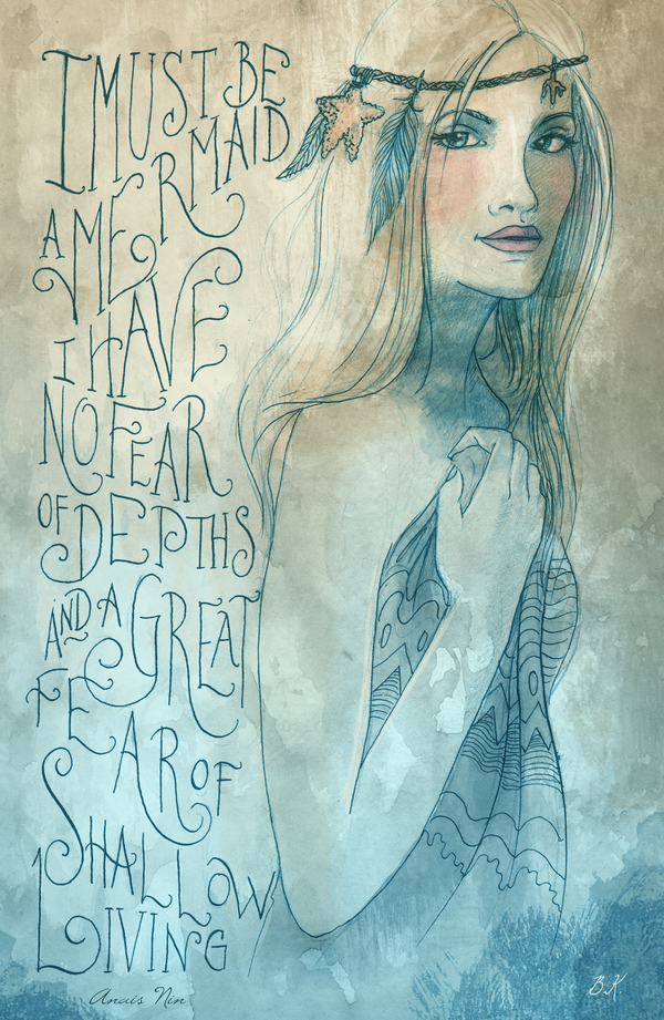 mermaid quote goddess of the sea