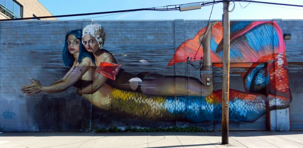 Mermaid goddess mural
