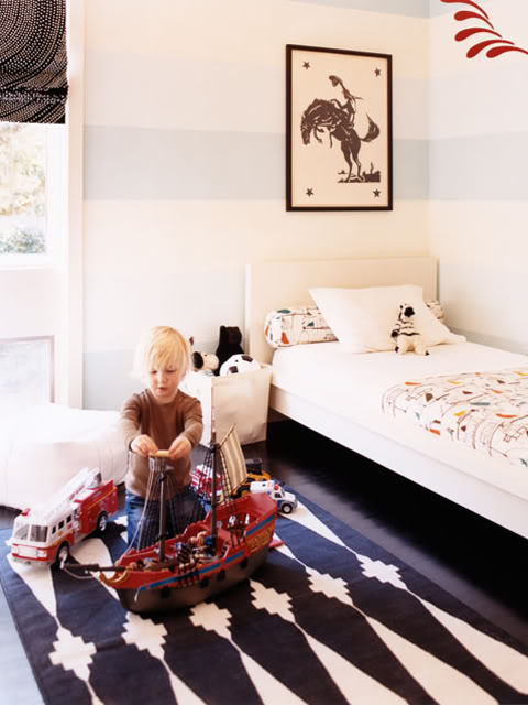 Sweet. Bedroom with toys and art