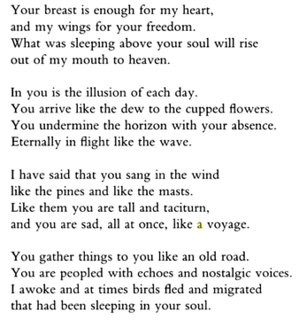 Neruda poem 12 in translation