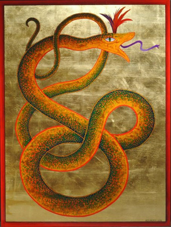 the feminine in motion. serpent medicine painting
