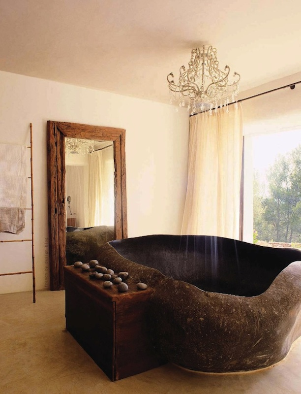 Organic poetic Tub bathroom feminine space
