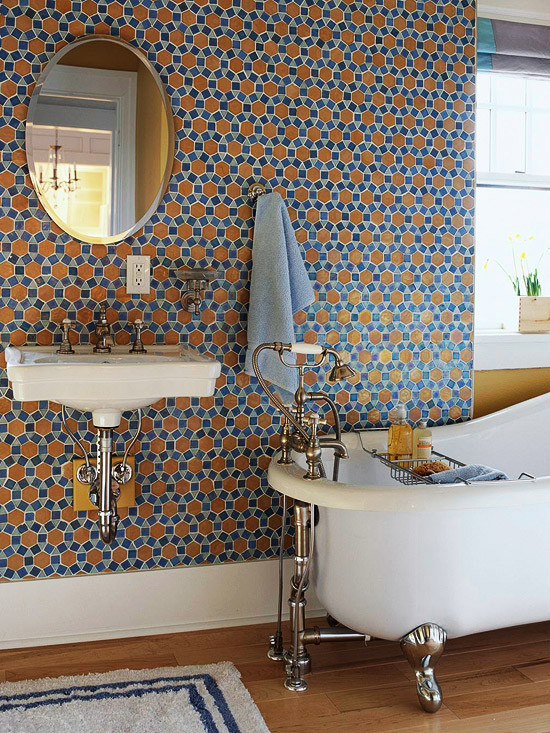 Wall tile bath