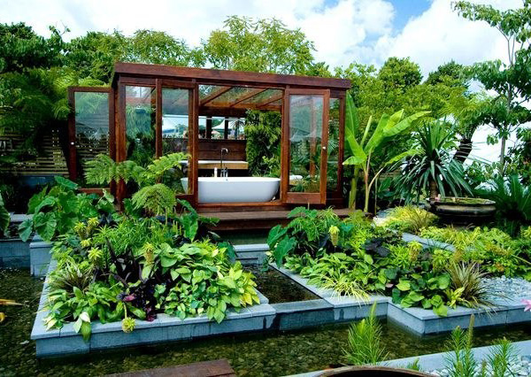bathroom in nature. sanctuary-garden-bathroom
