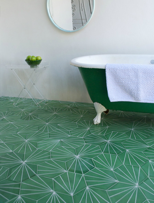 geometric modern tile