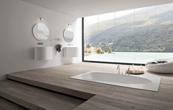 Amazing view for this bathroom of the Rexa collection