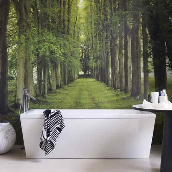 create a view. woodland bathroom