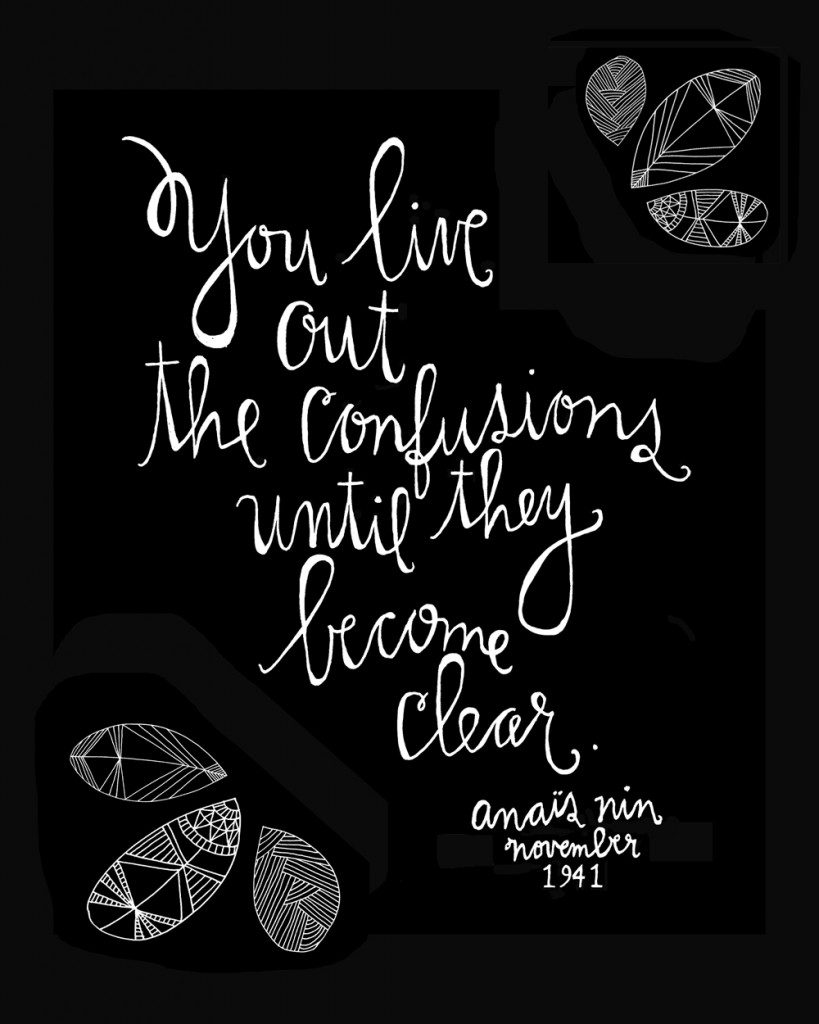 Anaïs Nin quote, hand-lettered and illustrated by artist Lisa Congdon