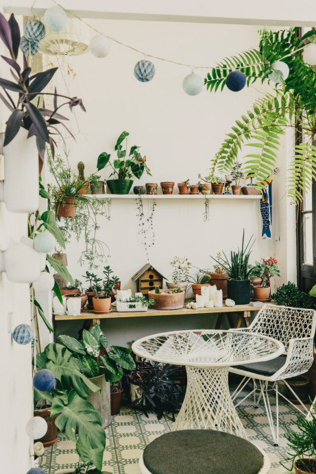 Andrew Trotter & Mari Luz Vidal's 'open house' with plants via freudenvonfreunden |awakening sacred flow