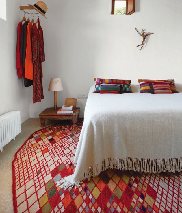 colorful bedroom via interior collective | awakening sacred flow