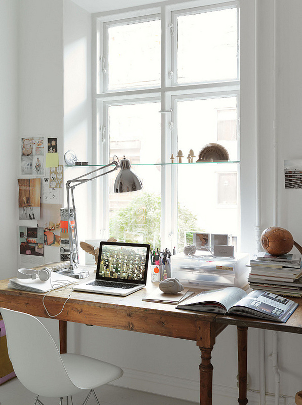 bright desk creative space via decor8blog | awakening sacred flow