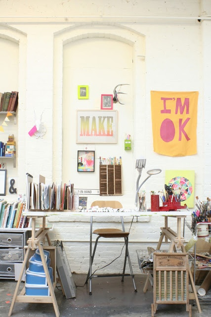 Love the creative studio of Lisa Congdon via fromyourdesks | awakening sacred flow