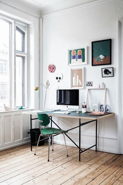 designer Tanja Vibe's workspace via theultralinx | awakening sacred flow